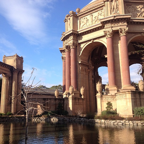 Foto do Palace of Fine Arts, em San Francisco, Califórnia